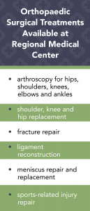 orthopedic surgical treatments at regional medical center